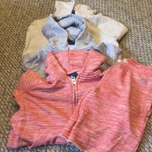 3 Gap hoodie sweatshirts and 1 pair of shorts